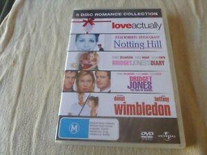 Love Actually / Notting Hill / Bridget Jones Diary 1 & 2 / Wimbledon (5x DVD) R4