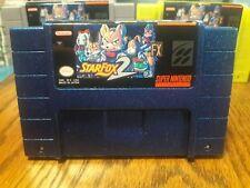 Super Nintendo NEW VERSION Starfox 2 Metallic Blue Cart Professional vinyl label