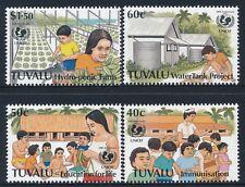 1996 TUVALU UNICEF 50th ANNIVERSARY SET OF 4 FINE MINT MNH