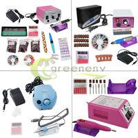 Professional Electric Nail File Drill Acrylic Manicure Pedicure Machine kit US