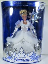 NIB BARBIE DOLL SIZE 1996 WALT DISNEY'S CINDERELLA HOLIDAY PRINCESS