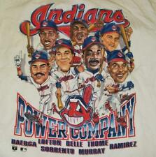 Cleveland Indians shirt Large Caricature Belle Lofton Thome 90's deadstock Last1