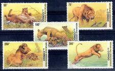 ANIMAUX SAUVAGES Congo Belge 5 val de 2002 ** cote 16,50euro FELIN LION