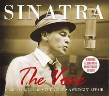 FRANK SINATRA - THE VOICE - THREE ORIGINAL ALBUMS ON NEW SEALED 3CD