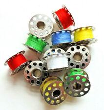 12-tlg. Nähmaschinenspulen mit Garn Metall Universal Spulen Nähmaschine Nähen