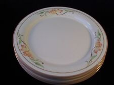 Lenox Chinastone Blossoms on Beige Set of 4 Salad Dessert Plates USA Retired