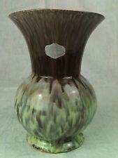 Vase laufglasur Marron Vert Céramique 50 ou ans avec Original Autocollant occlusives