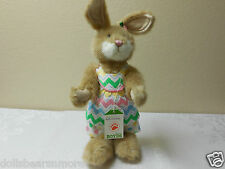 "NWT! Boyds Bears 12"" ""BUFFY COTTONTAIL"" Bunny Rabbit Hare Posable Plush #4038185"