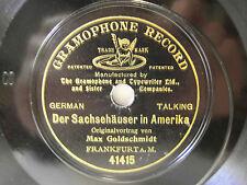 """78rpm 7"""" g & t 1903-Max Goldschmidt: la nordique maisons en Amérique"""
