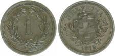 Schweiz 1 Rappen 1876, fast vorzüglich