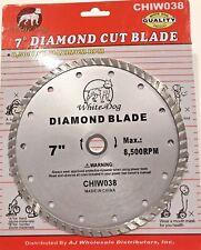"7"" inch Diamond Saw Blade Cutting Porcelain Tile Ceramic arbor 5/8 or 7/8"