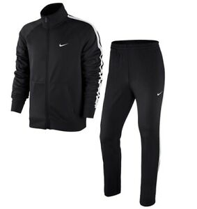 Nike Season Woven Poly Suit Herren Trainingsanzug Anzug Schwarz 638179-40 NEU