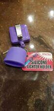 RETRACTABLE silicone lighter holder (PURPLE)