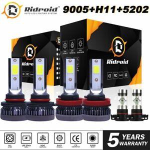 For Chevy Suburban Tahoe 2007-14 - 6x LED Headlight + Fog Light Bulbs Combo Kit