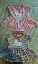Toddler Hello Kitty Girls Size 3-6 & 6-12 Months Pink/Purple Romper Lot Of 2 VGC