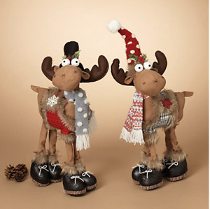"17"" PLUSH HOLIDAY MOOSE Gerson 2429960 Standing Moose MINT Fabulous CHRISTMAS"