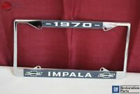 1970 Chevy Impala GM Licensed Front Rear License Plate Holder Retainer Frame