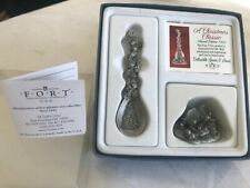 Genuine Fort A Christmas Classic Collectible Pewter Spoon & stand