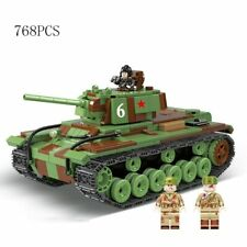 WW2 Classic Military US and Russia Army Tank lego Soldier Figures Building Block