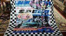 "RACE CAR Raceway SHOWER CURTAIN Vinyl 70"" x 72"" Wall Mural Backdrop"