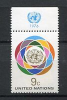 19904A) UNITED NATIONS (New York) 1976 MNH** def. + lab.