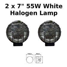"""2 x 7"""" CROMATO AUTO FURGONE ROUND guida alogene Spot Lampade Luci Grills 4x4 - 826"""