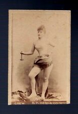 BOUDOIR Photo Card WOMAN Sword erotic risque lingerie victorian Chew Hess & Co.