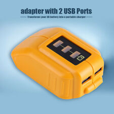 Good USB Mobile Battery Charger Adapter For Dewalt 10.8v 20v Slide DCB184 DCB090