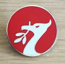 LIVERPOOL LIVER BIRD ROUND HARD ENAMEL PIN BADGE- RED AND WHITE