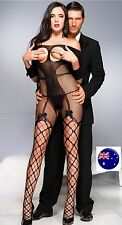 Women Foreplay Fish NET Sexy Open crotch Night Lingerie Bodysuit Body Stockings