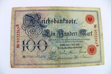 Ro.33a Banknote 100 Mark 1898 TOP old Bill