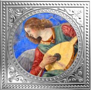 Angel Playing The Lute - Melozzo Da Forli Proof Silver Coin 1$ Niue 2018