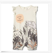 130220732 NWT BABY GAP DISNEY JUNGLE BOOK WILD AT HEART FLUTTER SLEEVE ONE PIECE  GIRLS 3-