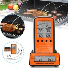 Wireless Remote Digital Kitchen Cooking Meat Thermometer - Dual Probe BBQ Smoker