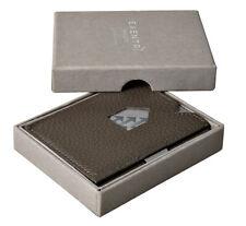 EXENTRI - Falt-Portemonnaie Echt-Leder Wallet superslim- Grau/Grey