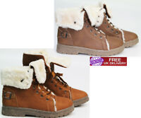 NEW LADIES ANKLE GIRLS WOMENS FUR WINTER HIGH COLLAR TRAINERS SHOES BOOT SIZE UK
