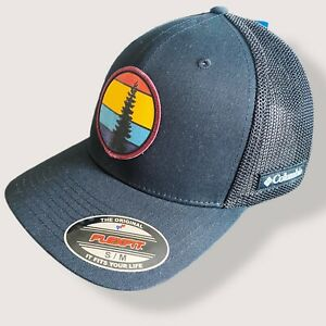 NEW Columbia The Original Flexfit Hat,Cap size S/M Black