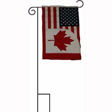 "12x18 12""x18"" U.S.A. USA / Canada Canadian Sleeved w/ Garden Stand Flag"
