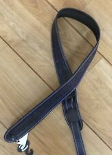 Leather Craft Celtic Embossed Blue Guitar Strap