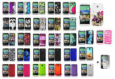For HTC Desire 510 Hard Case Snap-on Phone Cover + Free Screen Protector
