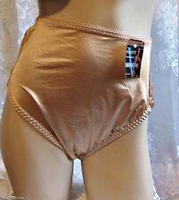 Vtg Style Vassarette Undershapers Hi-Cut Pantie~Glossy Beige~3X~With Tags!