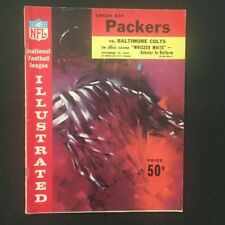 Vintage 1962 Baltimore Colts vs. Green Bay Packers Game Program- City Stadium