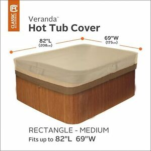 """Hot Tub Cover Medium Rectangular Up to 82"""" long x 69"""" wide"""