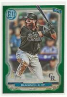 CHARLIE BLACKMON 2020 TOPPS GYPSY QUEEN GREEN PARALLEL COLORADO ROCKIES