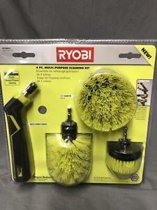 Ryobi Multi-Purpose Cleaning Kit, 4 Piece