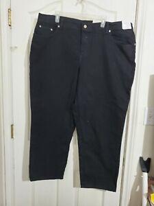 JUST MY SIZE 24W Stretch Ebony Black Jeans NWT JMS