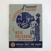 Vintage Brochure Gray Line Motor Tours New Orleans Louisiana History Advertising