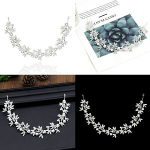 1X Crystal Diamante Bridal Hair Vine Wedding Hair Band Accessories Headdress