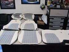 30th Anniversary Camaro White LEATHER Seat Covers With Black Hundstooth inserts