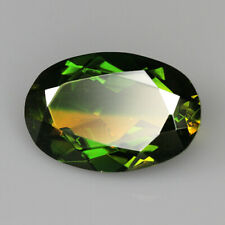 8.3Ct Man Made Bi Color Glass Yellow Green Oval Cut MQYG44